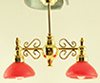 MH45138 - Billiard Chandelier W/Red Shade 12V