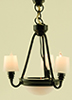 MH45140 - Black Americana Chandelier with Shades 12V