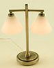 MH45154 - .Modern Table Lamp with 2 Down Shade, Pewter