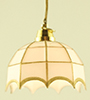 MH600 - Tiffany Hanging Lamp, Wht