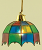 MH601 - Tiffany Hanging Lamp, Colored