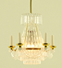 MH612 - Hanging Crystalene Chandelier