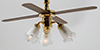 MH721 - Hw2721 3-Tulip Ceiling Fan