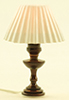 MH725 - Table Lamp, White Pleated Shade