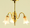 MH748 - Chandelier, 3-Light, Frst Tulip