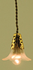 MH926 - Hanging Lamp, Frosted Flower