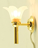 MH930 - Wall Sconce, Frosted Flower