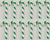 MUL2698A - Candy Canes Green-White 12Pcs.