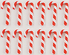 MUL2698C - Candy Canes Red-White 12 Pcs.