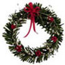 MUL4284 - Red/White Christmas Wreath