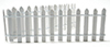 MUL5478 - 2 Inch White Picket Fence, 18 In Long