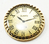 MUL5552 - Old Style Clock Flat Back, Gold, 1/2 Inch