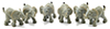 MUL6007 - Elephant, 6pcs