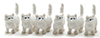 MUL6022 - White Kitten, 6pc