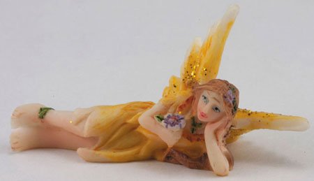 Small Fairy, Laying Down, Yellow Dress