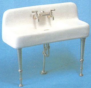Porcelain Kitchen Sink With Metal Legs