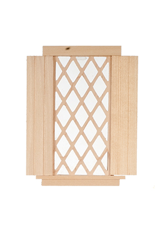 Single Window, Diamond Pattern W/Shutters