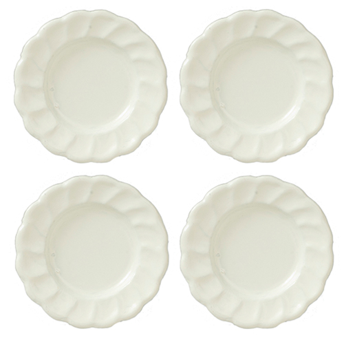 AZB0307 - Plates, White, Set, 4