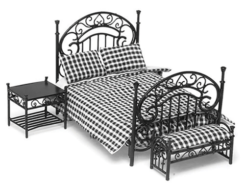 AZEIWF432 - Bedroom Set, 3Pc, Black/Cb