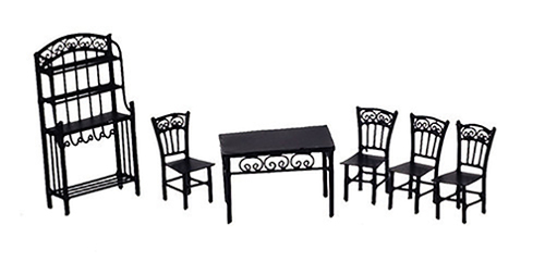 AZEIWF470 - 1/2 In Dining Set, 6Pc, Black/Cb