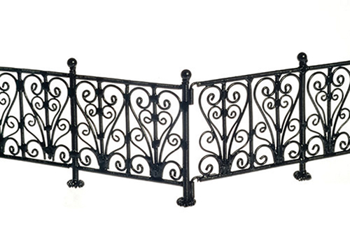 AZEIWF528 - Wrought Iron Fence/Bl/6Pcs