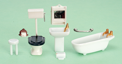 AZG1454 - 1/4 Inch Bathroom Set, 8Pc