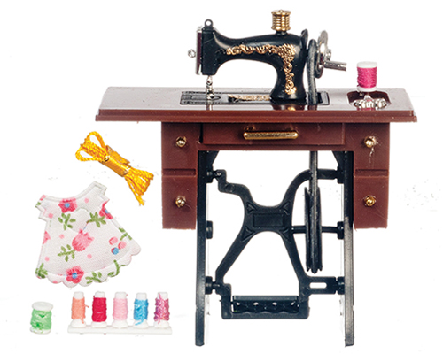 AZG7327 - Black Sewing Machine with Needle Movement