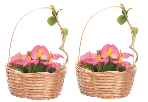 AZG7862 - Hand Made Flower Basket/2
