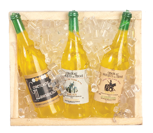 AZG8236 - Box Of Ice/3 Wine Bottles