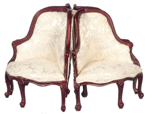 AZP3080 - Round-4-Part Sofa-Chair, Mahogany