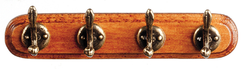 AZS3092 - Wall Coat Rack W/4 Hooks