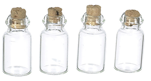 AZS7387 - Glass Jars/Empty/4Pk