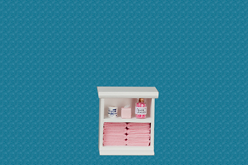 AZSH0011 - Small Bath Cabinet, Pink