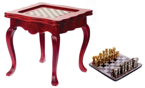 AZT3691 - .Inlaid Game Table, Mahogany