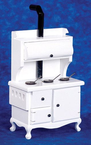 AZT5105 - Wood Stove, White/Cb