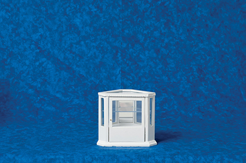 AZT5445 - Corner Display Cabinet, White