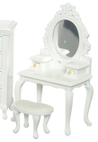 AZT5671 - Vanity with Stool/White