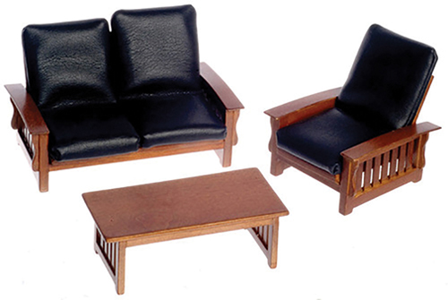 AZT6235 - Sofa, Chair, Table, Black, Walnut