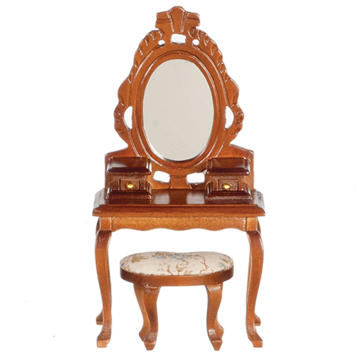AZT6671 - Vanity with Stool, Walnut