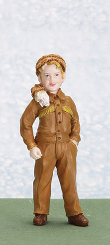 AZT8246 - Bart/Boy with Coonskin Cap Figure