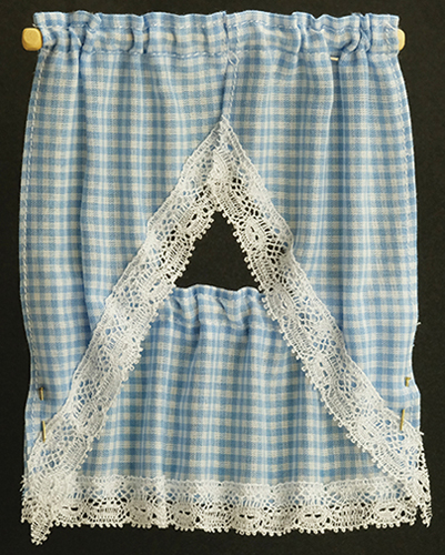 BB50603 - Kitchen Curtain: Gingham Blue