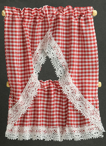 BB50606 - Kitchen Curtain: Gingham Red