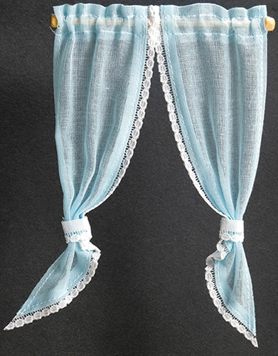 BB52113 - Demi Curtains: Tie Back, Blue