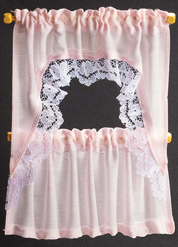 Curtains: Ruffled Cape Set, Light Pink