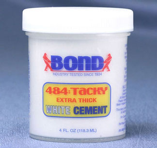 BO484 - Bond Adhesive: 4Oz White Cement, Tacky