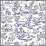 BP1FR101 - Wallpaper, 6pc: Campagne Toile Blue