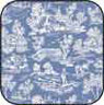 BPCFR01 - Cotton Fabric: Reverse Toile Blue
