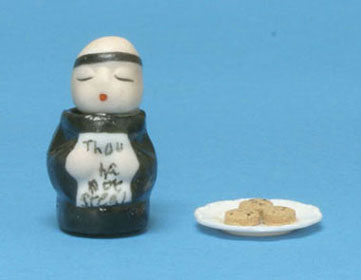 CARS10569 - Thou Shall Not Steal Monk Cookie Jar W/Ast Plate