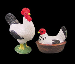 CAR0016 - Hen & Rooster Black/White