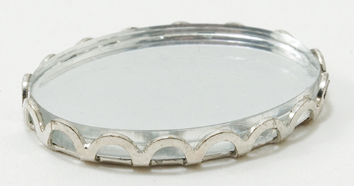 CB084SL - Tiny Mirrored Tray, Silver